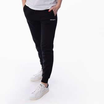 Carhartt WIP Script Embroidery Sw. Pant I027478 BLACK/WHITE