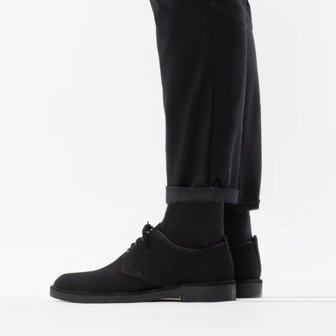 Clarks Desert London Black Suede 26107883