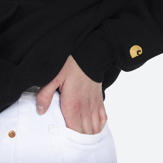 Carhartt WIP W' Hooded Chase Sweatshirt I028392 BLACK/GOLD