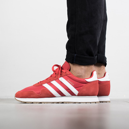 "Men's shoes sneakers adidas Originals Haven ""Red"" BY9714"