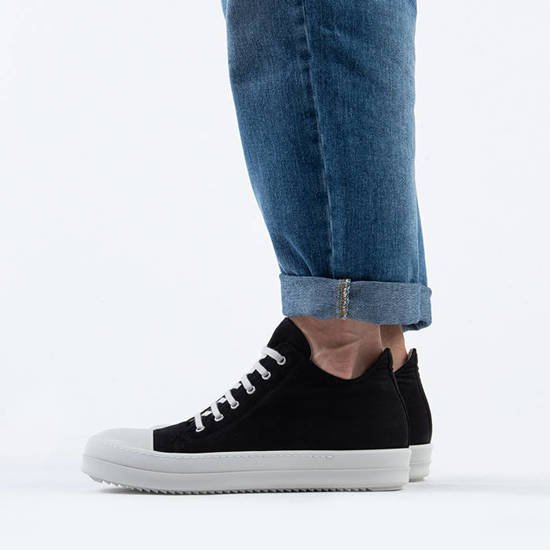 Rick Owens DRKSHDW Low Sneaks DU20F1802 TWP BLACK/WHITE