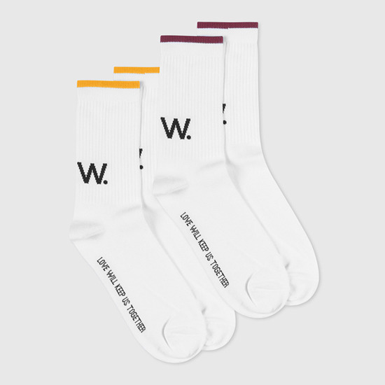 Wood Wood Gail Socks 11939004-9517 Bright White Stripe