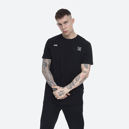 Wood Wood Voyages T-shirt 12035716-2334 BLACK